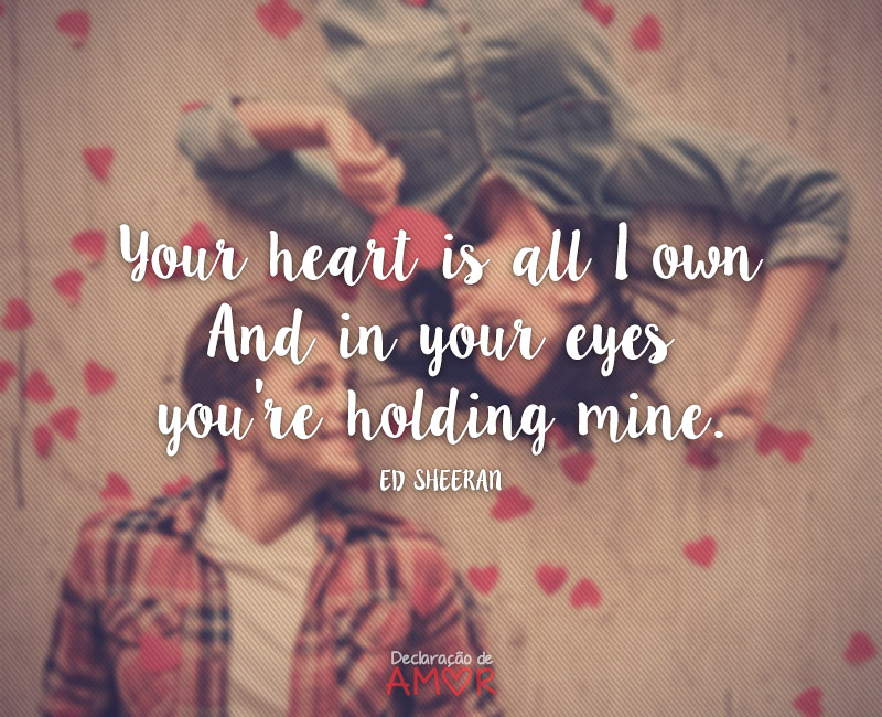 Your heart is all I own